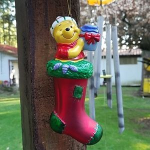 Winnie The Pooh 'POOH' European Glass Ornament
